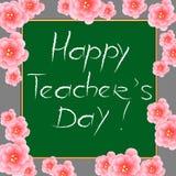 Happy Teachers Day. Stock Photography