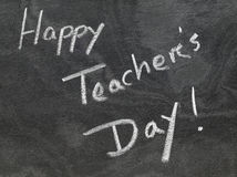 Happy Teachers Day written in chalkboard Royalty Free Stock Photography