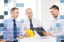 Happy team of architects and designers in office Stock Photography