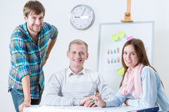 Happy team of architects Royalty Free Stock Image
