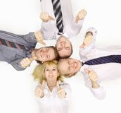 Happy team of business colleagues Stock Photography