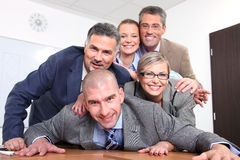 Happy team of business people Royalty Free Stock Photography