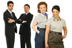 Happy team of business people Royalty Free Stock Images