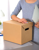 Happy team of businesspeople moving office Royalty Free Stock Photography