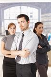 Happy team of casual office workers Royalty Free Stock Images
