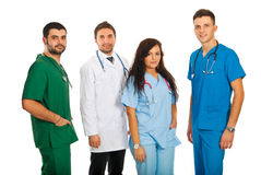 Happy team of doctors Royalty Free Stock Photos