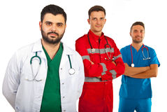 Happy team of doctors Stock Photos