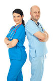 Happy team of physicians Royalty Free Stock Image