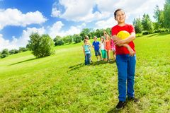 Happy team player Royalty Free Stock Images