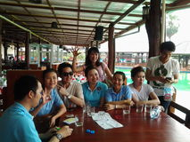 Happy team work Royalty Free Stock Image