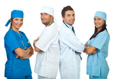 Happy teams of doctors Royalty Free Stock Photography