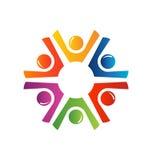 Happy teamwork logo Royalty Free Stock Photos