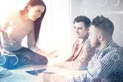Teamwork people discuss business process royalty free stock images