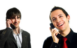 Happy technical support operators Royalty Free Stock Photos