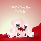 Happy Teddy Bear Day Stock Photos