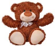 Happy teddy bear raising his arms Royalty Free Stock Photo