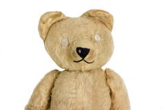 Happy Teddy Bear. Vintage Hand Made Toy, Circa 1950 Stock Image