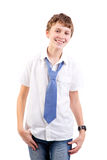 Happy teen. Portrait isolated on white background Royalty Free Stock Photos