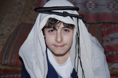 Happy Teen with Arabic Clothes. In Dubai Stock Photos