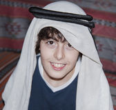 Happy Teen with Arabic Clothes Royalty Free Stock Photo