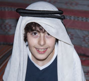 Happy Teen with Arabic Clothes. In Dubai Royalty Free Stock Image