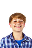 Happy teen boy is laughing Stock Photos