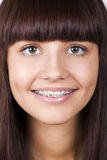 Happy teen with braces. Royalty Free Stock Image