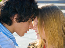 Happy teen couple stock photography