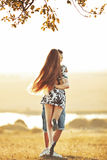Happy teen couple embracing. Great relationships royalty free stock images