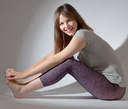 Happy Teen in Cute Outfit royalty free stock image