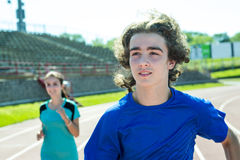 Happy teen doing training workout and sport Royalty Free Stock Photo