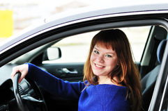 Happy teen driver Royalty Free Stock Photo