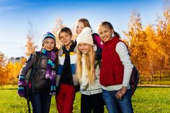 Happy teen friends outside Royalty Free Stock Images