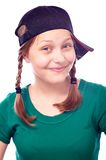 Happy teen girl in cap Royalty Free Stock Images