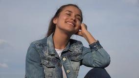 Happy Teen Girl Or Female Teenager stock footage