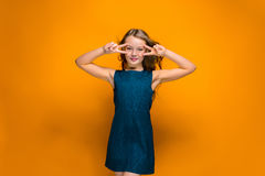 Happy teen girl Royalty Free Stock Images