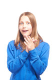 Happy teen girl making funny faces Royalty Free Stock Photo