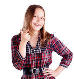 Happy teen girl posing Royalty Free Stock Images