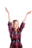 Happy teen girl posing Stock Photography
