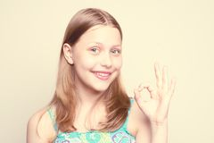 Happy teen girl smiling Royalty Free Stock Photography