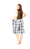 Happy teen girl who lost weight, full length Royalty Free Stock Photos