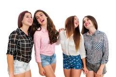 Happy teen girlfriends. Royalty Free Stock Photos