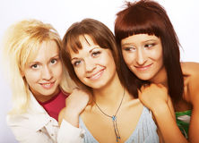 Happy teen girls Stock Photography
