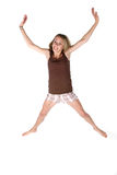 Happy teen jumping in the air Royalty Free Stock Photo