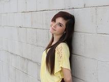 Happy Teen Long Hair Royalty Free Stock Photos