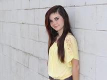 Happy Teen Long Hair Stock Image