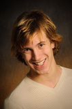 Happy Teen Male. Healthy Caucasian Teen Male With Big Smile Stock Photography