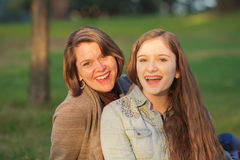 Happy Teen with Mother Royalty Free Stock Photography