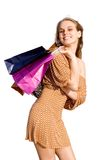 Happy teen shopper Stock Photo