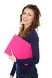 Happy teen student girl Stock Images